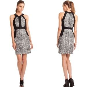 Trina Turk Black Croc Animal Print Seville Dress